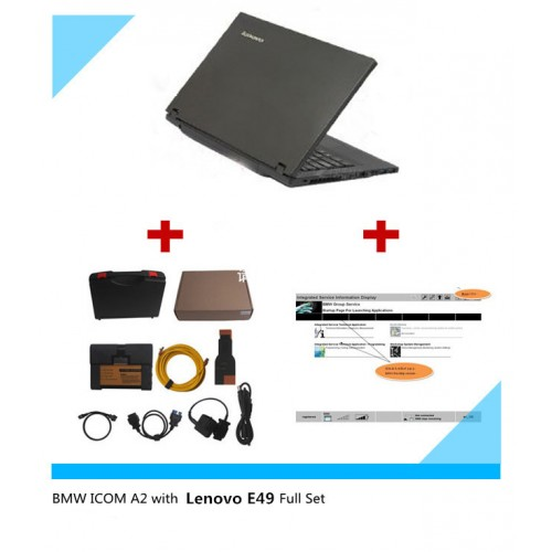 2017.03 BMW ICOM A2+B+C with Brand New Lenove E49A Laptop BMW Rheingold Software Pre-installed