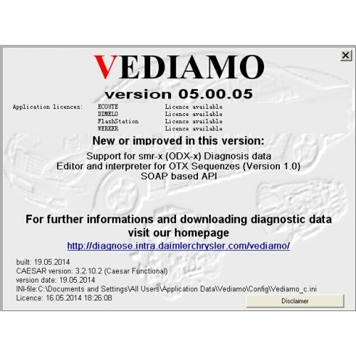 MB Vediamo V05.00.05 Development And Engineering Software For SD C4