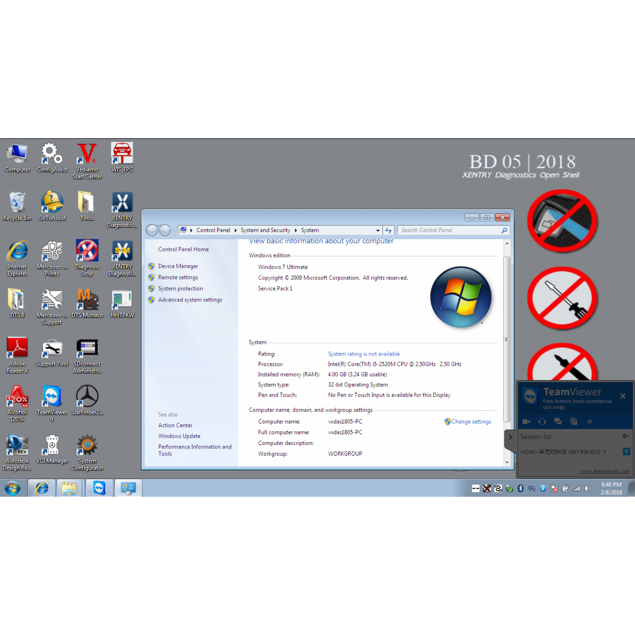 2019 03 MB Star Diagnosis SD Connect C4 Software Windows 7