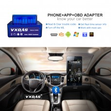 VXDAS VX09 Mini Bluetooth Best OBD2 Code Scanner for Android Windows